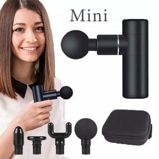 Súng massage Mini Bỏ Túi, Máy massage gun toàn thân làm 4 đầu 4 tốc độ giảm đau nhức cơ và thon gọn cơ thể, hoạt động êm ái không ồn - Hãng phân phối chính thức thumbnail