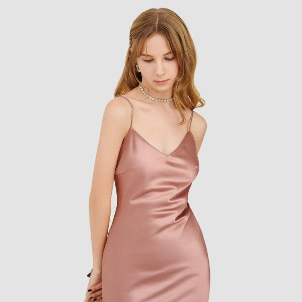 ĐẦM 2 DÂY SLIP DRESS SATIN - MARC FASHION