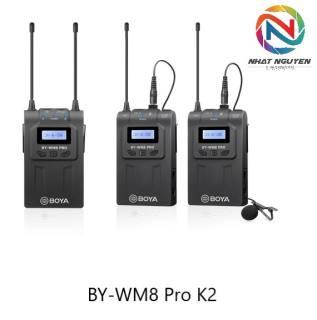 Micro không dây Boya WM8 PRO K2 / BY WM8 PRO K2 - Bảo hành 12 tháng