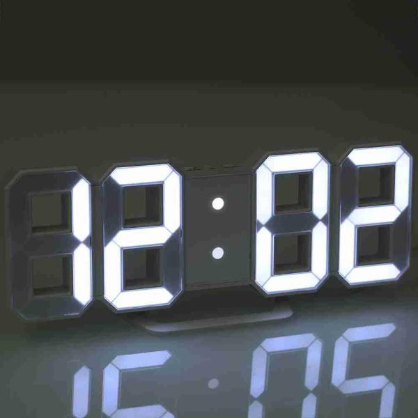 Đồng hồ treo tường, để bàn thông minh đèn LED 3D siêu sáng bán chạy