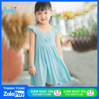 Váy bé gái hai dây cánh tiên duyên dáng, xinh yêu + Đầm bé gái mùa hè  HAKI (10-26kg); đầm thiết kế bé gái; váy xinh cho bé; váy hoa cho bé; váy hè cho bé gái