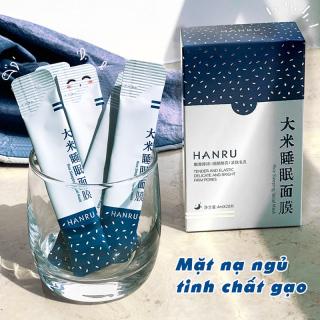 Hộp 20 gói mặt nạ ngủ tinh chất gạo HANRU dưỡng da se khít lỗ chân lông mịn màng căng bóng mặt nạ nội địa Trung mask TK-MNG012 thumbnail