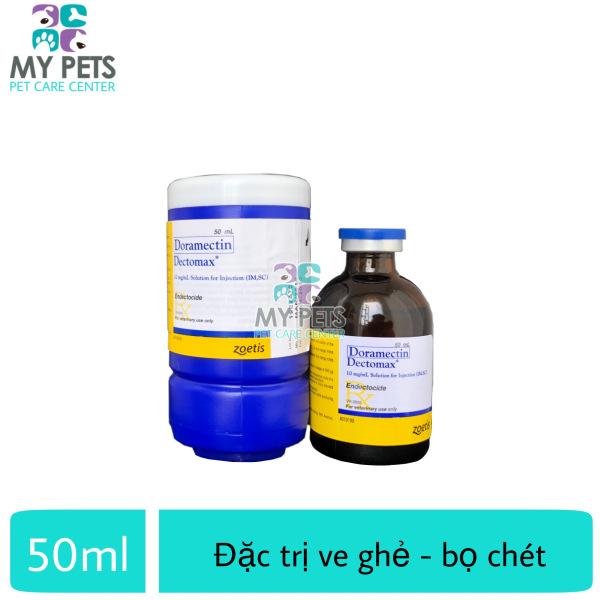 Thuốc Tiêm trị ve ghẻ, bọ chét cho chó mèo - Doramectin Detomax 50ml