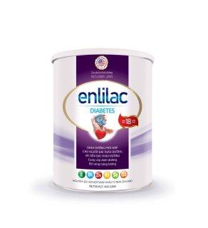 Sữa Enlilac Diabetes - 400gr, sữa dinh dưỡng cho người bệnh tiểu đường, giúp ổn định đường huyết thumbnail