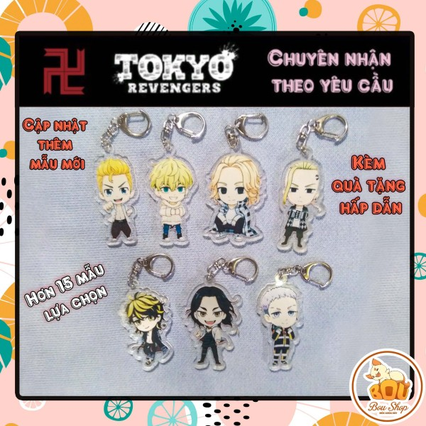 Móc khóa Mica Acrylic Tokyo Revengers - Kịch Trường Của Takemichi Anime Keychain