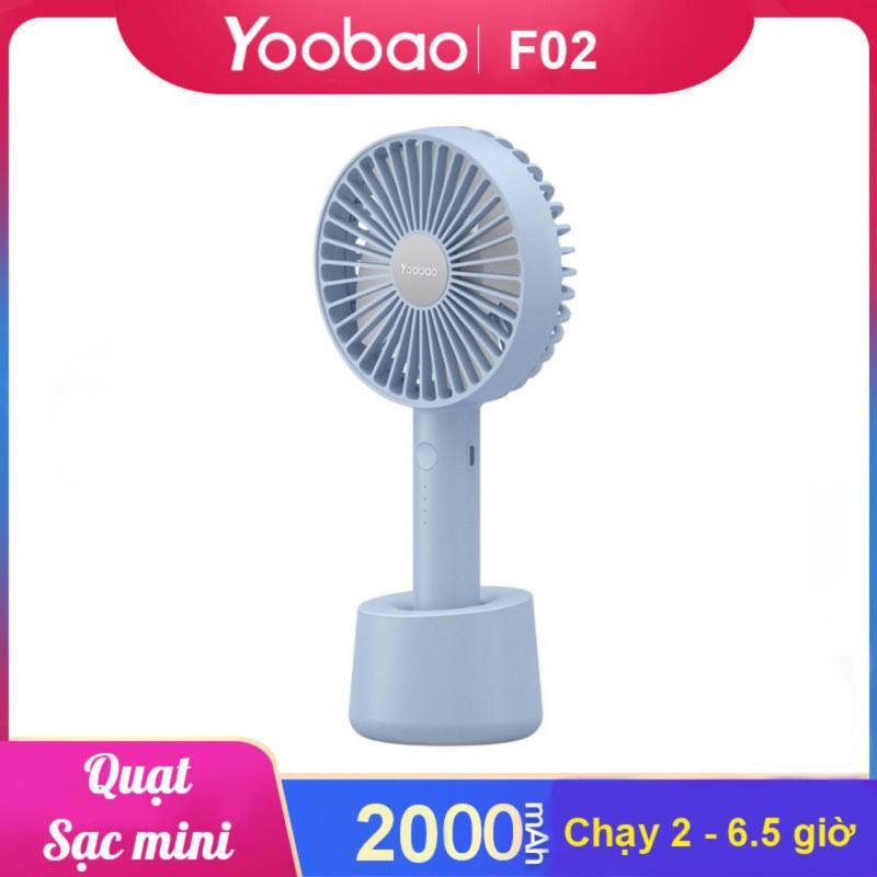 Quạt sạc mini cầm tay có thể đặt trên bàn YOOBAO F02 - Hãng phân phối chính thức