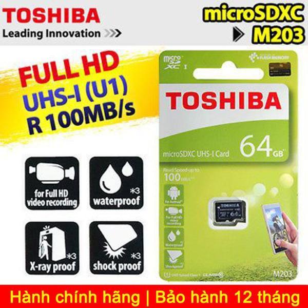 Thẻ nhớ Toshiba MicroSDXC M203 UHS-I U1 64GB 100MB/s