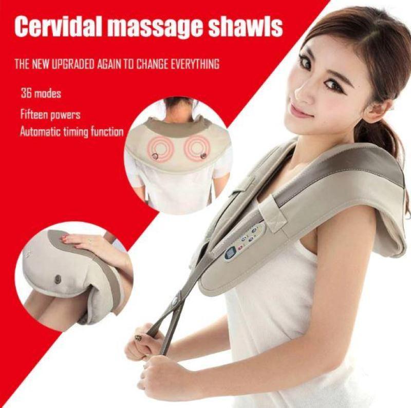 Máy đấm lưng massage toàn thân Cervical Massage Shawls nhiều chế độ đấm bóp giảm nhanh các cơn đau mỏi