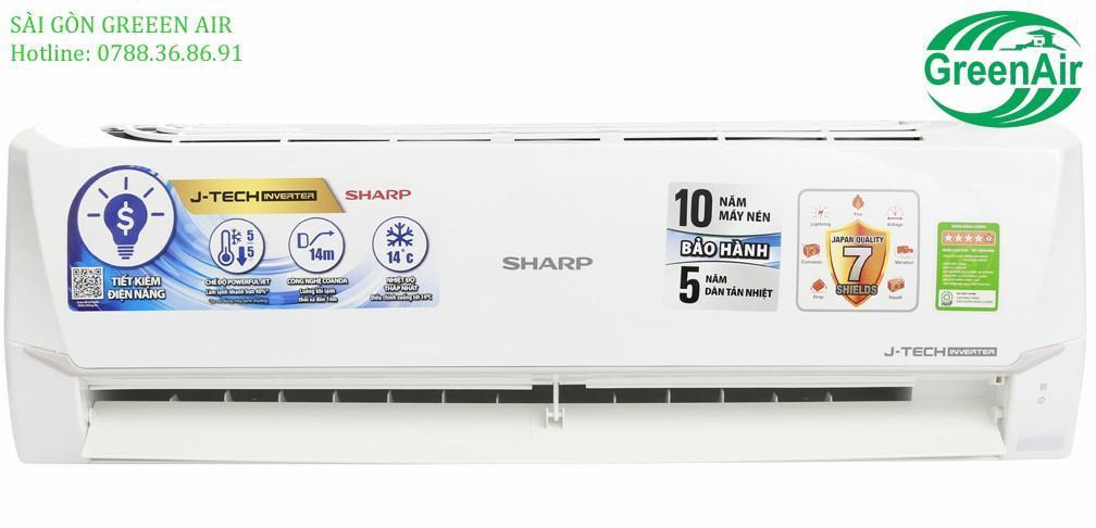 Bảng giá MÁY LẠNH SHARP 1.0HP AH-X9VEW INVERTER R32