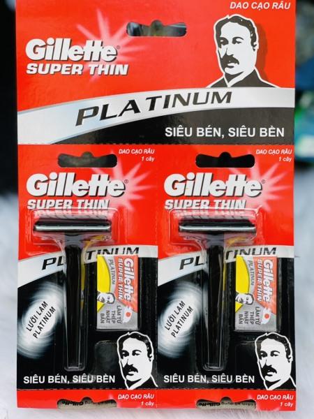 Dao Cạo Râu Gillette Vector (vĩ màu đỏ) – Siêu bén và siêu bền giá rẻ