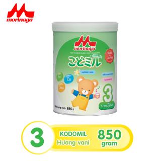 Sữa Morinaga Số 3 Kodomil Cho Bé Từ 3 Tuổi - Hương vani 850gr - HSD T12 2021 (không đai đổi quà) thumbnail
