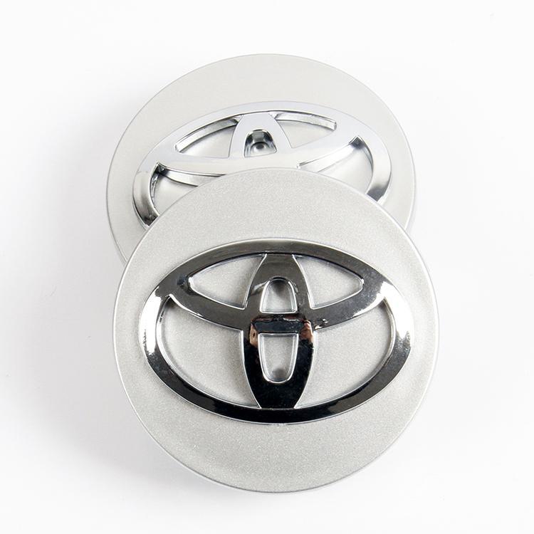 1 chiếc Logo chụp mâm, ốp lazang bánh xe ô tô, xe hơi nhãn hiệu Toyota đường kính 62mm ( Màu bạc) - 6