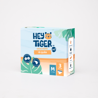 [DEAL SỐC][HÀNG DÙNG THỬ 3 MIẾNG] Tã Quần Hey Tiger - Size M cho bé từ 6kg - 11kg thumbnail