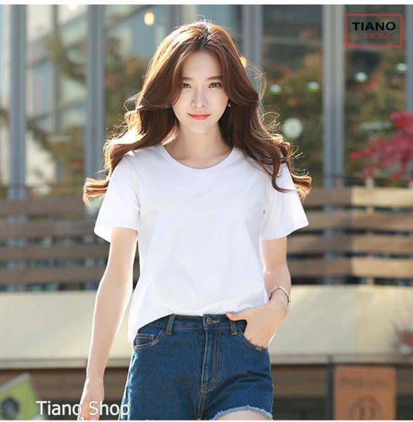 Áo Thun Trơn Nữ Form Rộng Phong Cách Hàn Quốc Vải Dày Mịn - 6 size 18 màu - Áo Thun Nữ Thời Trang Tiano