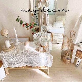 Khăn thêu ren trắng trải bàn, picnic phong cách retro -may.decor- thumbnail