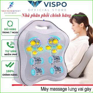 Gối Massage Cổ Vai Gáy 8 Bi Hồng Ngoại Đa Năng Máy Massage Lưng - Bảo hành 12 tháng thumbnail