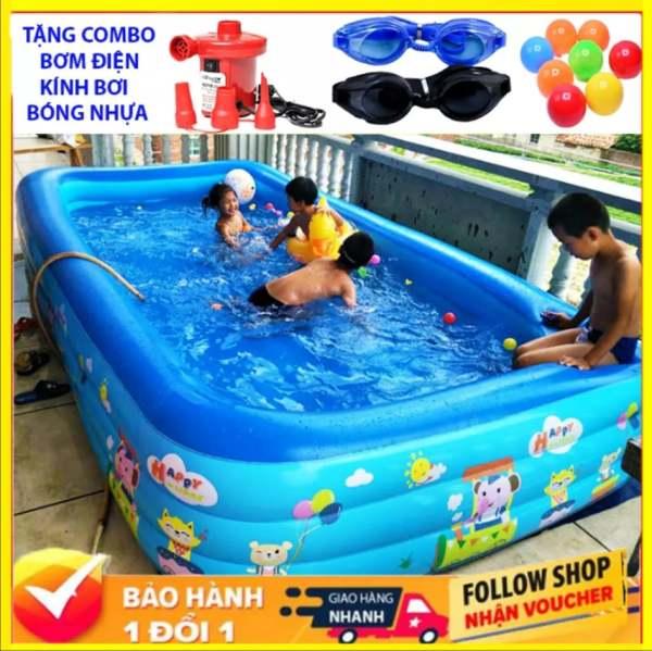 Bể Bơi Phao Cho Bé - 2+3 Tầng – 1m8 -2m1 – Có Đáy Chống Trượt