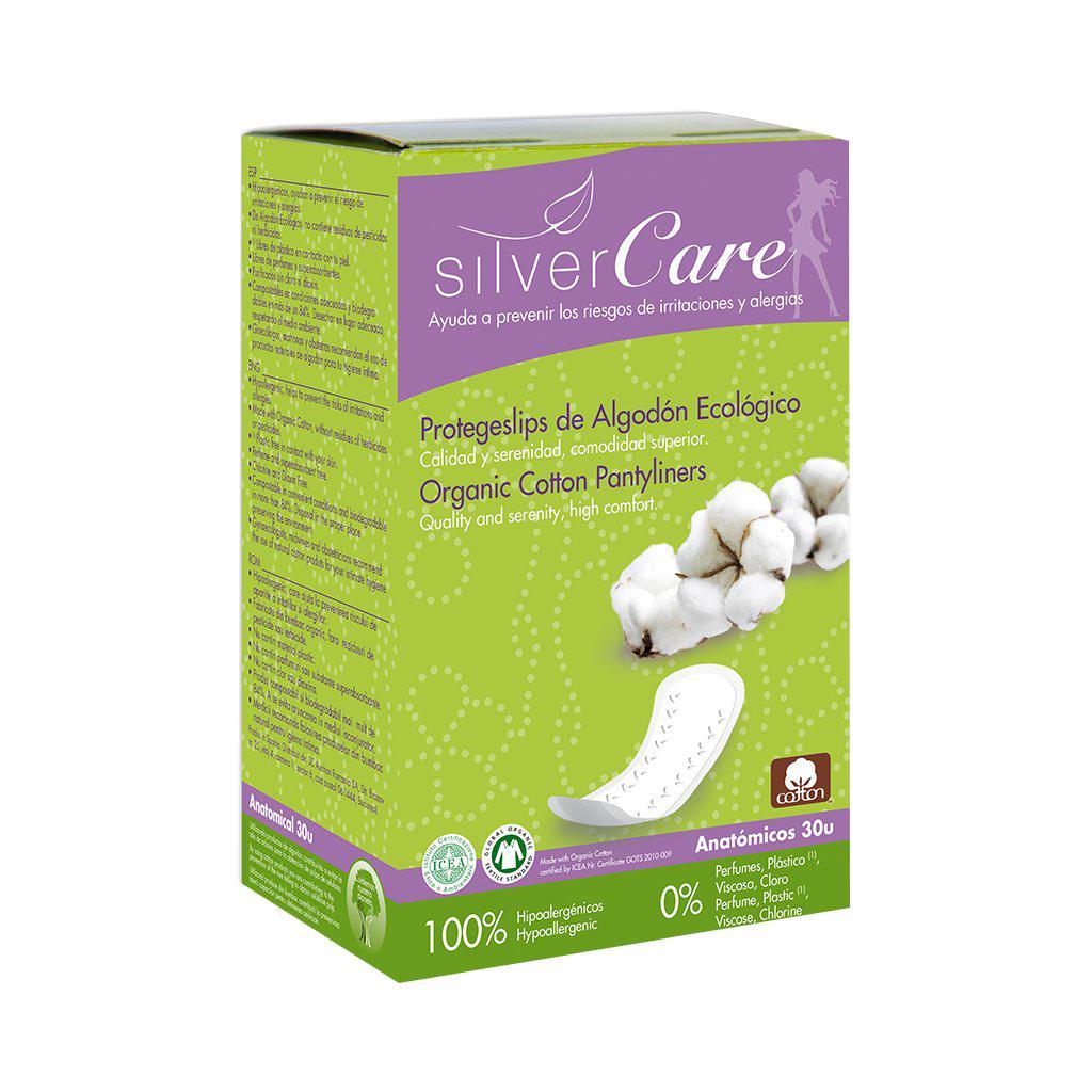 Băng vệ sinh hữu cơ hàng ngày Anatomical Silvercare 30 miếng
