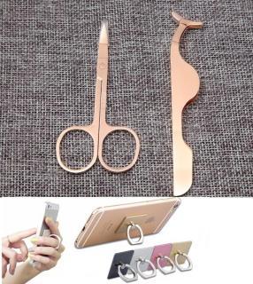 Combo kéo tỉa lông mày và nhíp kẹp gắn mi giả - Tặng giá đỡ điện thoại (màu ngẫu nhiên) thumbnail