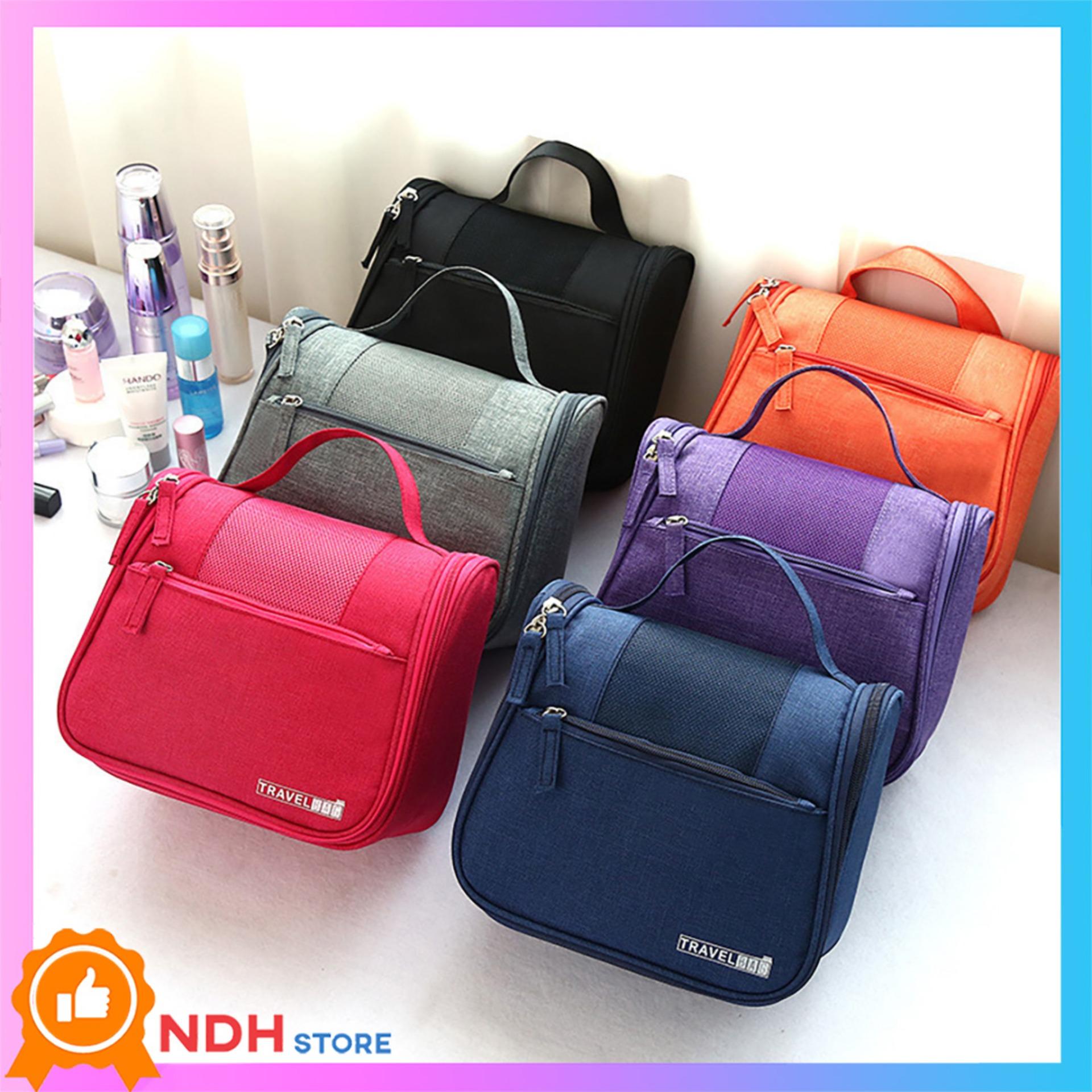 Túi đựng mỹ phẩm thông minh Travel Bag vãi lưới thoáng khí, 5 ngăn đựng tiện dụng ( Nhiều màu)