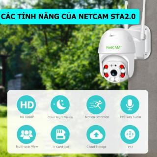 Camera IP wifi Speed Dome NetCAM STA2.0 - Hãng Phân Phối Chính Thức thumbnail