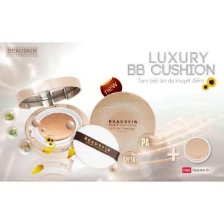 [Thu thập mã giảm thêm 30%] [Phấn nước Hàn Quốc] Phấn nước kiềm dầu siêu mịn Beauskin Luxury Cushion BB Hàn Quốc (11g x 2 lõi ) - thumbnail