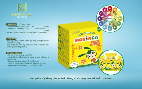 Canxi K2 Moringa - Dành cho mẹ và bé - Canxi hữu cơ hộp 8 gói