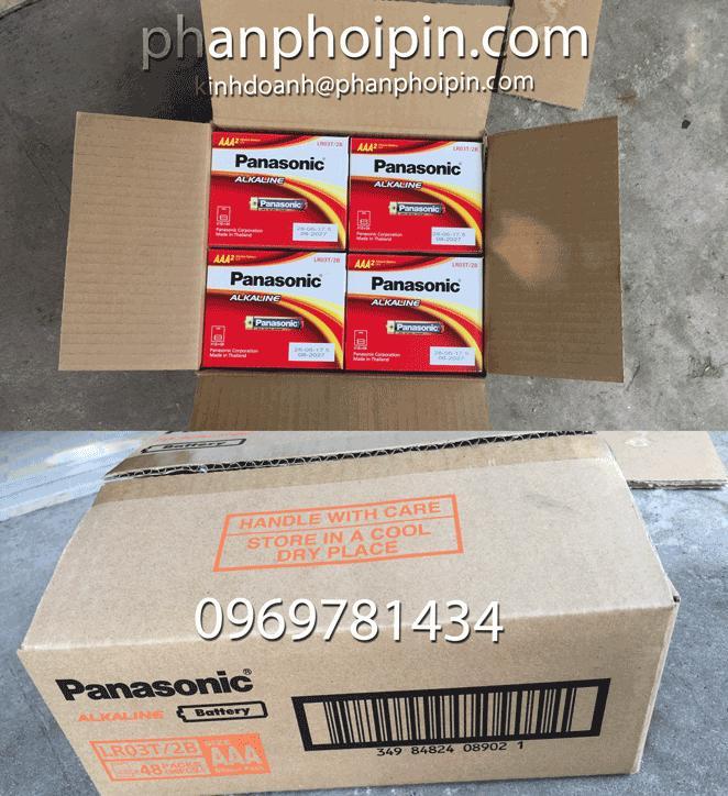 01 Thùng Pin (48 Vỉ 2 Viên) Pin Kiềm Alkaline Panasonic AAA LR03T/2B-Pin Phương Nam Giảm Cực Hot