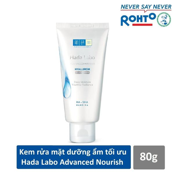(HSD 2023) Kem Rửa Mặt Dưỡng Ẩm Tối Ưu Hada Labo Advanced Nourish Hyaluron Cleanser (80g) nhập khẩu