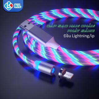 Dây sạc chuẩn kết nối phát sáng đầu nam châm hút màu Trắng phát sáng tạo hiệu ứng dòng chảy cực đẹp dây bọc siêu bền (Bao gồm 1 dây 1 đầu) thumbnail