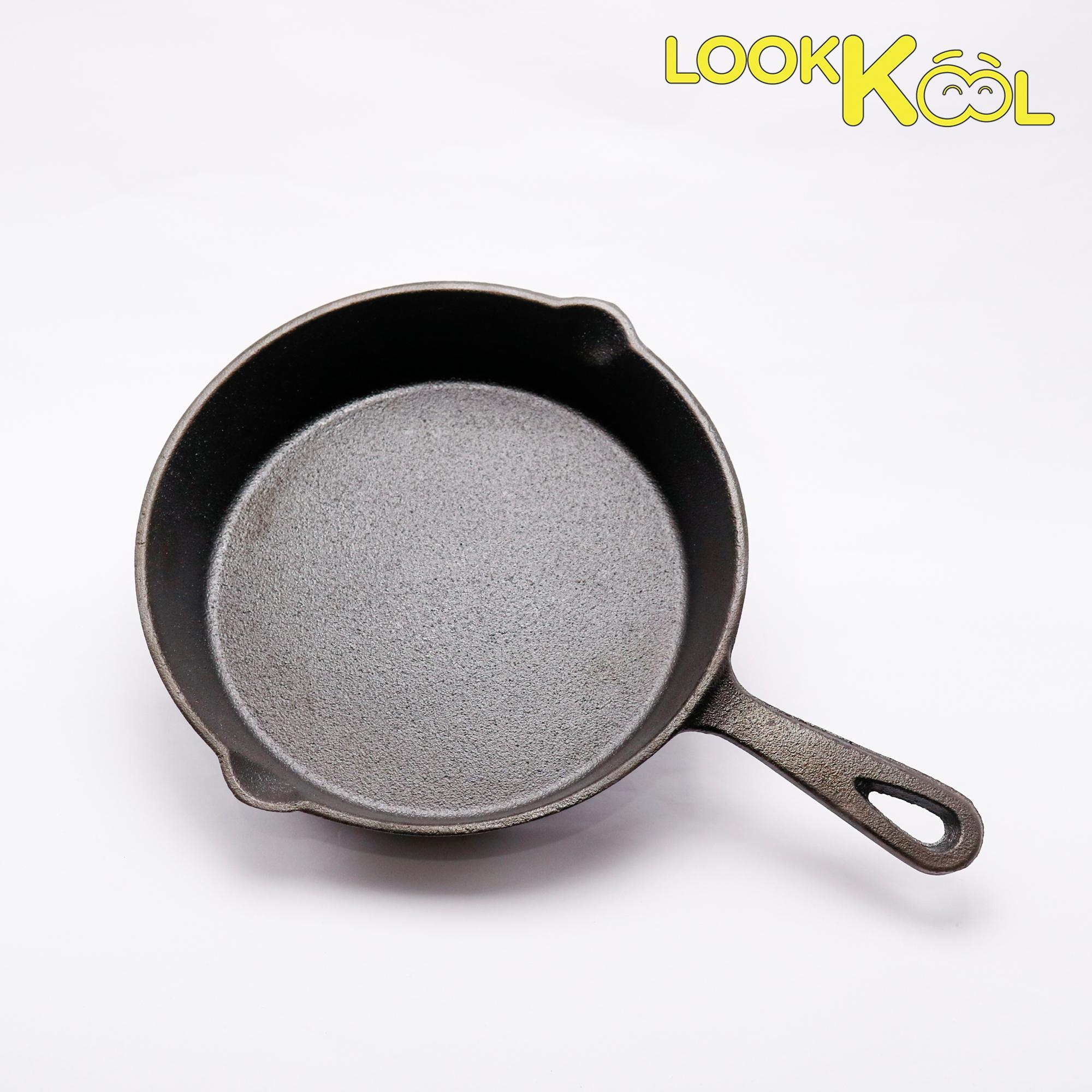 Chảo gang chiên rán nướng xào không dính - CAST IRON bếp từ 20cm
