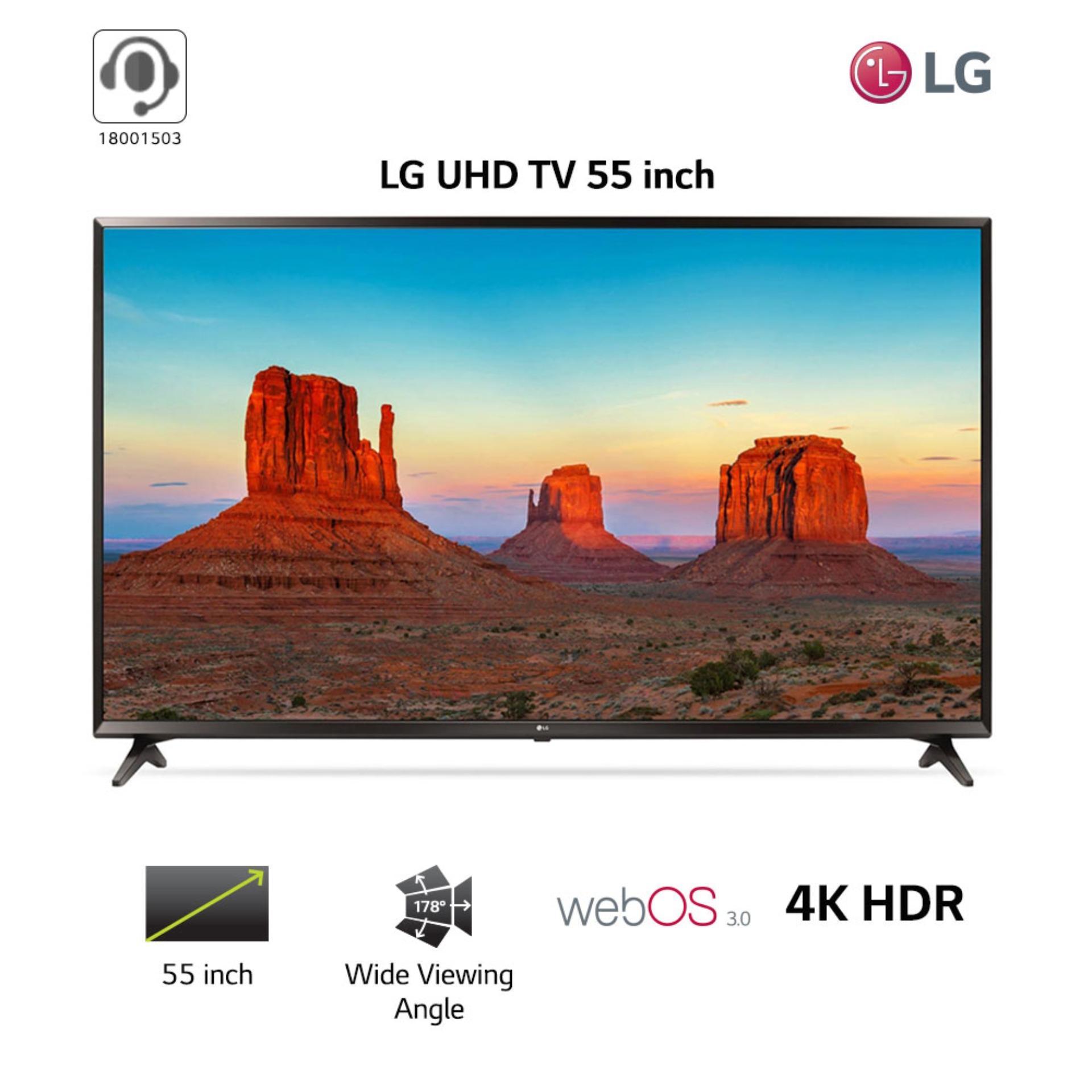 Smart TV LG 55inch 4K Ultra HD - Model 55UK6100PTA (Đen) - Hãng phân phối chính thức