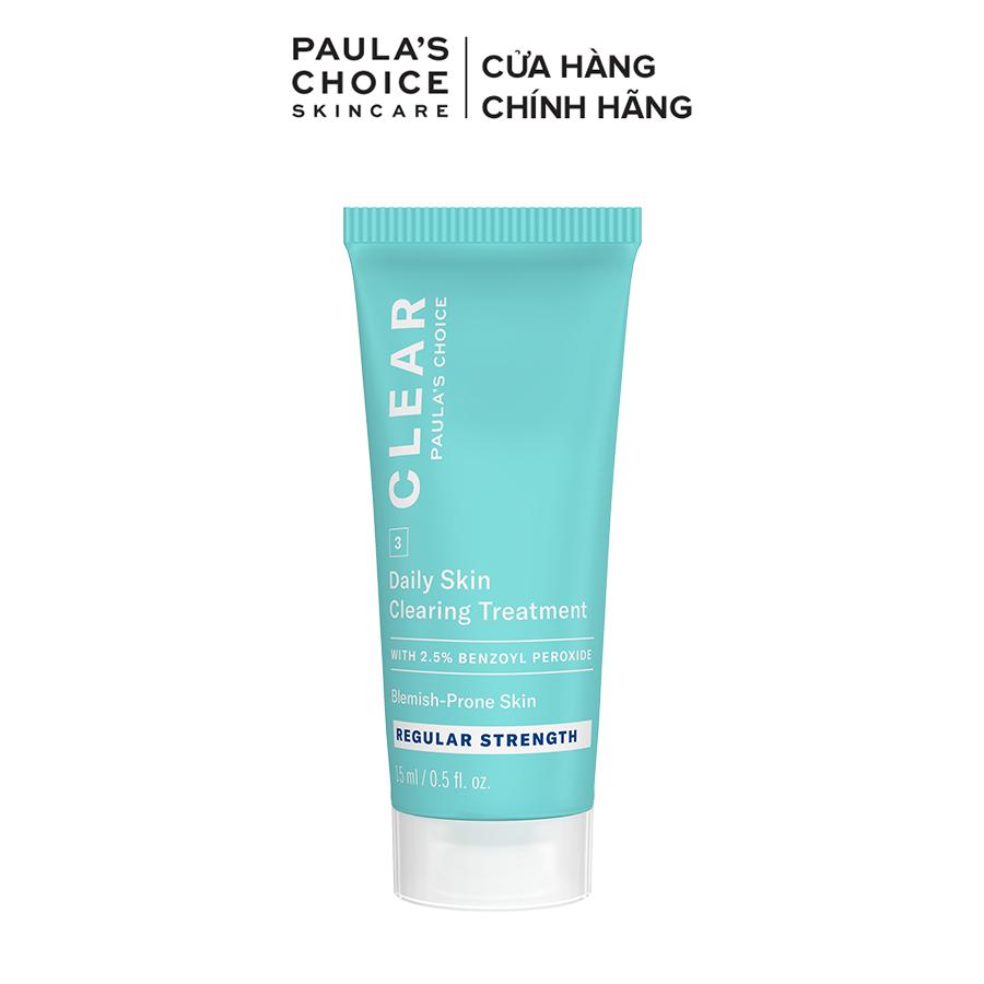 Kem chấm mụn giảm sưng viêm Paula's Choice Clear Regurlar Strength Daily Skin 15ml