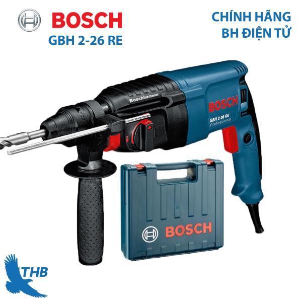 Máy khoan búa Máy khoan bê tông Bosch GBH 2-26 RE Công suất 800W Mũi khoan búa 26mm Bảo hành 12 tháng Dòng máy Heavy Duty
