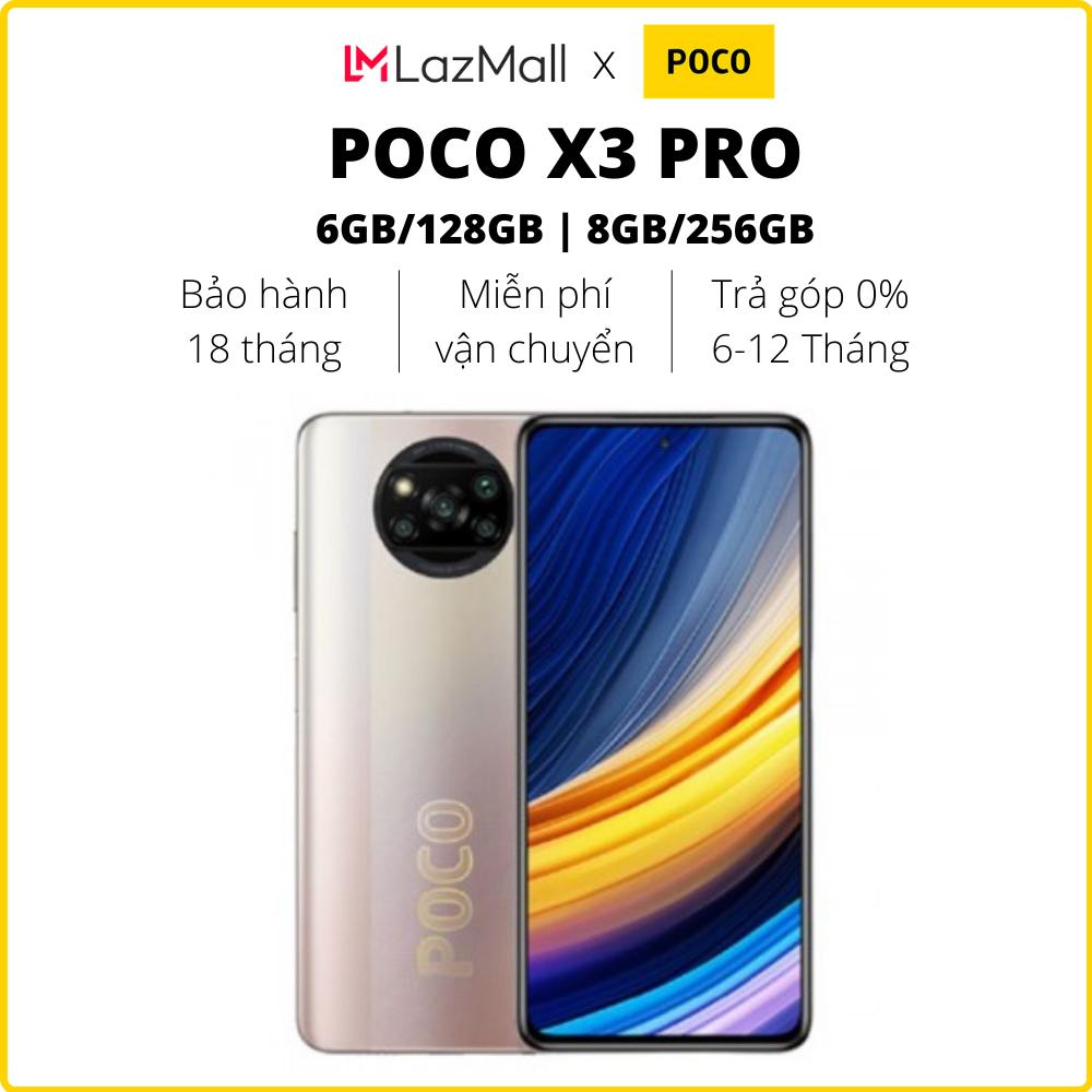 Điện thoại POCO X3 Pro (6GB/128GB   8GB/256GB) - Hàng chính hãng DGW - Bảo hành 18 tháng - Trả góp 0%