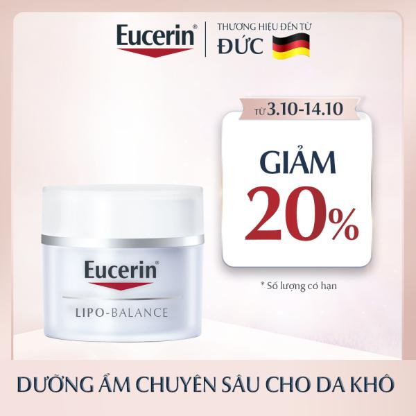 Kem Dưỡng Ẩm Cho Da Khô Và Nhạy Cảm Eucerin Lipo Balance 50ml