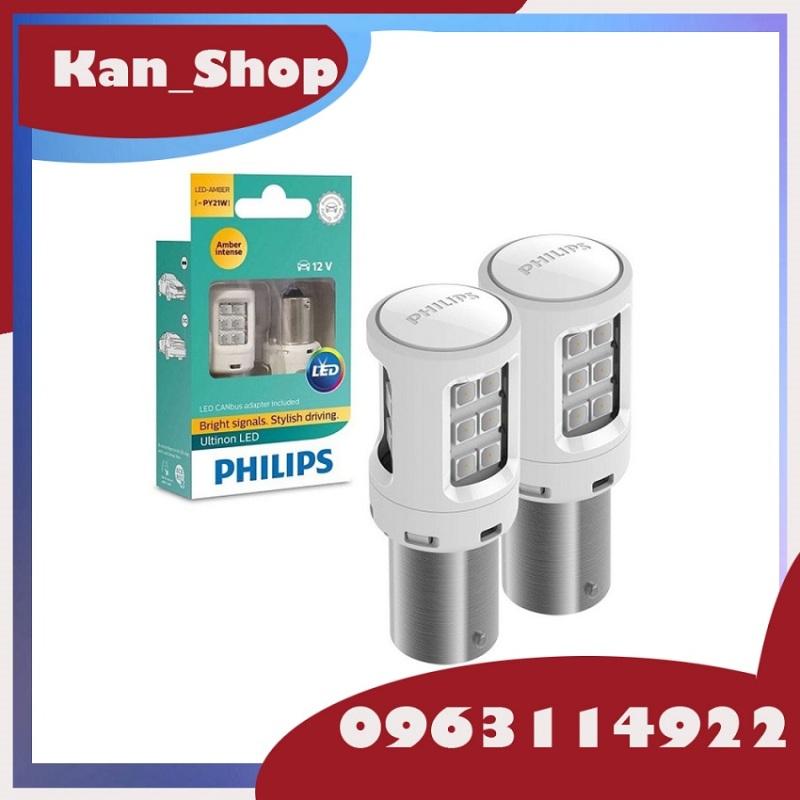 Đèn LED Philips Ultinon S25 P21, PY21 Giá 1 Đôi Đèn Được Tặng 1 Khăn Lau Chuyên Dụng