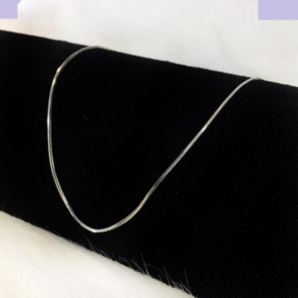 Dây chuyền BẠC THẬT 100% tinh khiết kiểu sợi mì (rắn) - Trang Sức Bạc Cao Cấp