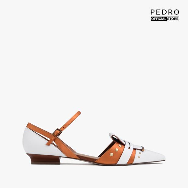 PEDRO - Giày đế bệt nữ mũi nhọn Decorative Pointed Toe Covered PW1-66300049-24 giá rẻ