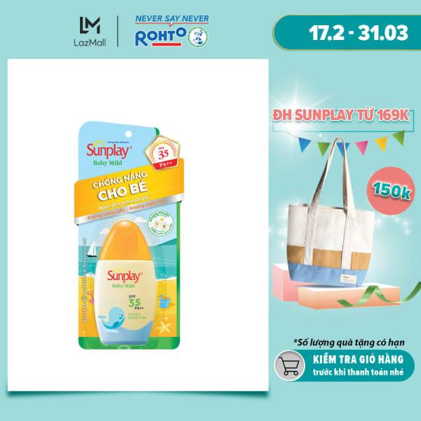 Sữa chống nắng cho bé và da nhạy cảm Sunplay Baby Mild SPF 35, PA++ 30g giá rẻ