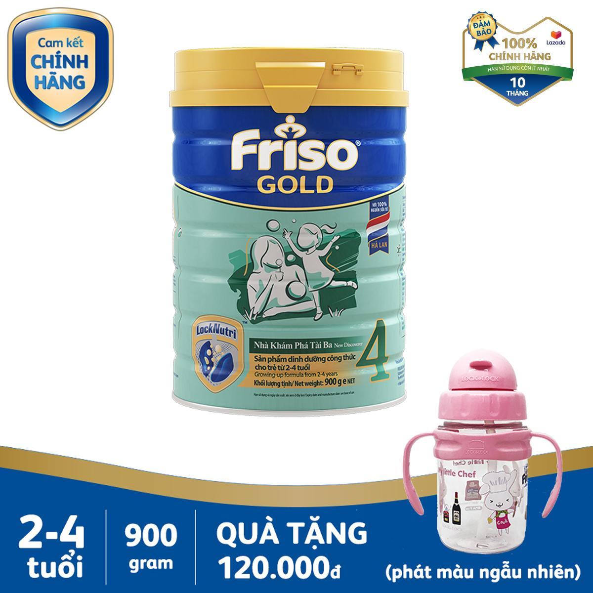 Offer Ưu Đãi Sữa Bột Friso Gold 4 900g Cho Trẻ Từ 2-4 Tuổi + Tặng 1 Bình Nước Lock&Lock Cho Bé (màu Ngẫu Nhiên) - Cam Kết HSD ít Nhất 10 Tháng
