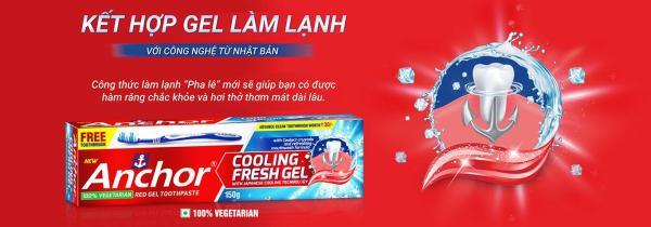 Kem đánh răng Gel Mát Lạnh  Anchor Cooling Fresh Gel 150g (Tặng kèm bàn chải)