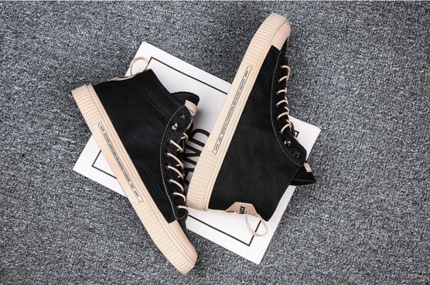 Giày cao cổ nam đen - Giày thể thao nam cao cổ GC310 Giày nam siêu Hot 2020 giá rẻ