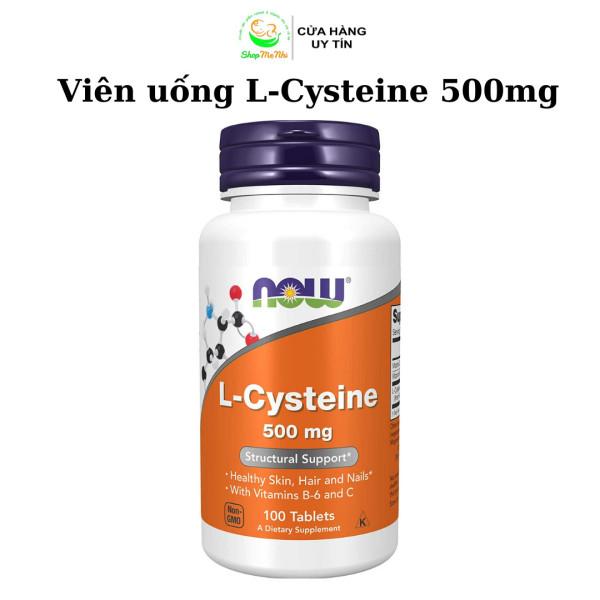 [HCM]Viên uống L-Cysteine 500mg hỗ trợ giảm mụn bổ sung dinh dưỡng cho da tóc móng 100 viên