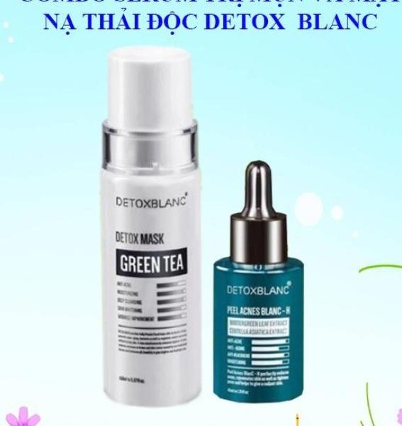 Combo serum tri mun và mặt nạ Detox Blanc