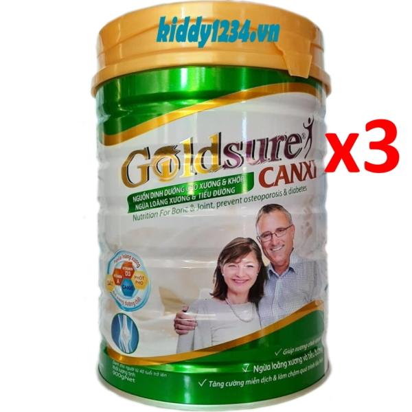 Combo 3 lon sữa Goldsure canxi ngừa loãng xương tiểu đường 900g dành cho người già giá rẻ