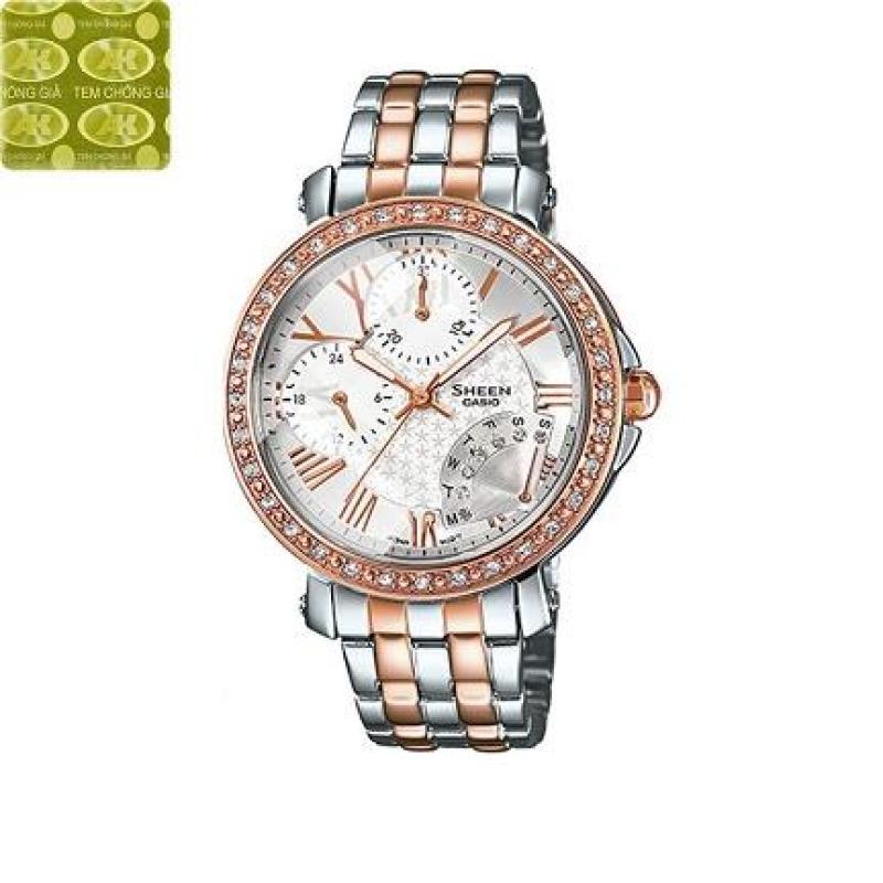 Đồng hồ nữ dây thép không gỉ Casio Anh Khuê Sheen SHN--3011SG-7ADR