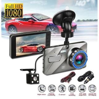 [ KÈM THẺ NETAC 32G ] Camera hành trình ô tô trước sau A10 Full HD 1080P kèm thẻ nhớ Netac 32G, ống kính kép siêu bền thumbnail