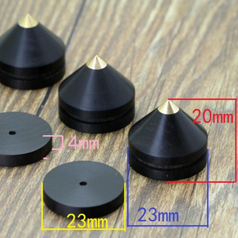1 Sets Speaker Loudspeaker Spikes Stand Feets Audio Speaker Repair Parts Turntable DIY Speaker Stand Shock Pin Nails and Pads Accessories
