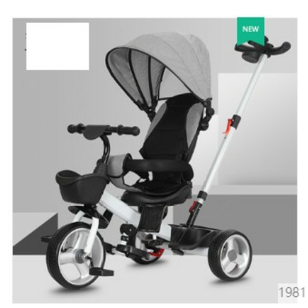 Giá bán Xe đạp 3 bánh cao cấp ghế 2 chiều có tay đẩy, mái che và đệm JIAJIABAO 1027